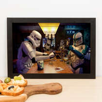 Quadro Beer Star Wars - 23x33 cm