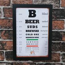 Quadro Beer - Linha CDB Designer - 33x22 cm