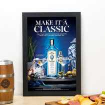 Quadro Bombay Sapphire Classic - Linha CDB Designer 33x22 cm