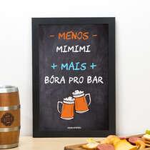 Quadro Bora pro bar - Linha CDB Designer 33x22 cm