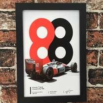 Quadro McLaren MP4/4 Fórmula 1 - Linha CDB Designer 33X22 cm