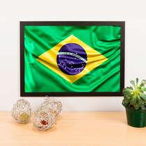 Quadro Decorativo Brasil - 45x33 cm