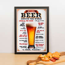 Quadro Decorativo How To Order a Beer Around The World - 45x32 cm