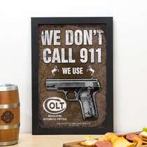 Quadro Don´t Call 911 - 33x22 cm