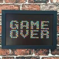 Quadro Game Over  - Linha CDB Designer 22x33 cm