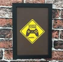Quadro Game Zone - Linha CDB Designer 33x22 cm