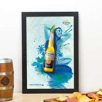 Quadro La cerveza mas fina - Linha CDB Designer 33x22 cm
