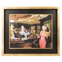 Quadro Madeira Hollywood Stars - Bar