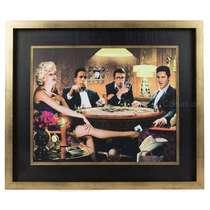 Quadro Madeira Hollywood Stars - Jogando Cartas