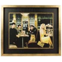 Quadro Madeira Hollywood Stars - Restaurante