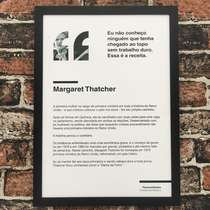 Quadro decorativo Margaret Thatcher - Linha CDB 45X32 cm