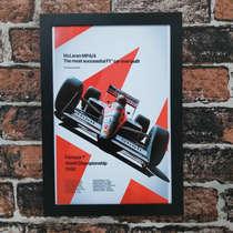 Quadro McLaren MP4/4 - Linha CDB Designer - 33x22 cm