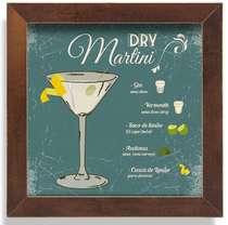 Quadro Metal Dry Martini  - 23 x 23 cm