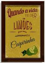 Quadro Metal Limões  - 33 x 24 cm