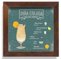 Quadro Metal Piña Colada  - 23 x 23 cm