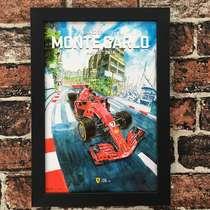 Quadro Monaco Grand Prix - Linha CDB Designer - 33x22 cm