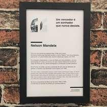 Quadro Nelson Mandela - Linha CDB 33X22 cm