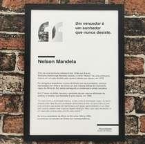 Quadro decorativo Nelson Mandela - Linha CDB 45X32 cm