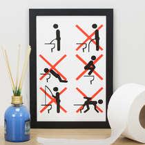 Quadro Regras do Banheiro - 33x22 cm