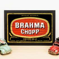 Quadro Rótulos Brahma - 22x33 cm