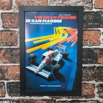 Quadro Senna GP San Marino - Linha CDB Designer 33x22 cm