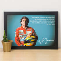 Quadro Senna Ídolo Eterno - 22x33 cm