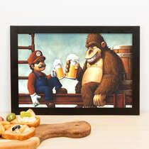 Quadro Super Mario Bros. & Donkey Kong- 23x33 cm