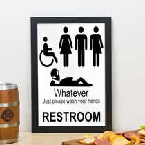 Quadro The Restroom - 33x23 cm