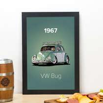 Quadro VW Bug 1967 - Linha CDB Designer 33x22 cm