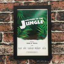 Quadro Welcome To The Jungle - Linha CDB - 33x22 cm