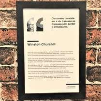 Quadro Winston Churchill - Linha CDB 33x22 cm