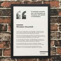 Quadro Winston Churchill - 45x32,5 cm