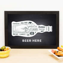Quadro - Beer Here - 23x33 cm