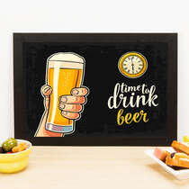 Quadro - Time to Drink Beer - 23x33 cm