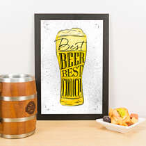 Quadro - Best Beer Best Choice - 33x23 cm