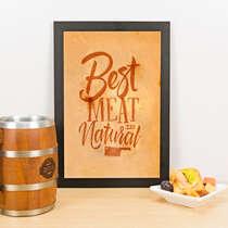 Quadro - Best Meat - 33x23 cm (Nude)