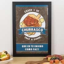 Quadro - Coach do Churrasco - 33x22 cm