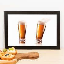 Quadro - Copos de cerveja - 23x33 cm