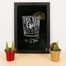 Quadro - Gin & Tônica - 33x23 cm