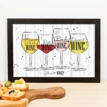 Quadro - Glass of Wine - 23x33 cm (Branco)