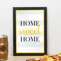 Quadro - Home Sweet Home - 33x22 cm