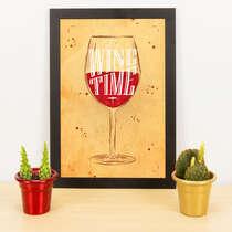 Quadro - It´s wine time - 33x23 cm (Nude)