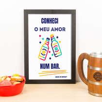 Quadro - Meu amor no bar  - 33x23 cm