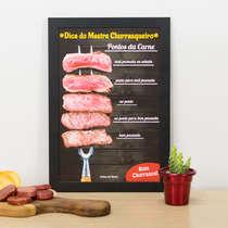Quadro - Pontos da Carne - 33x22 cm