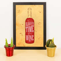 Quadro - Time for wine - 33x23 cm (Nude)