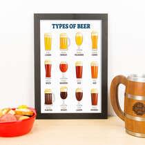 Quadro - Tipos de Cerveja - 33x23 cm