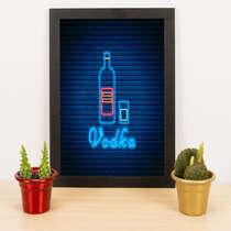 Quadro - Vodka Neon- 33x23 cm