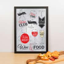Quadro - Wine & Food - 33x23 cm