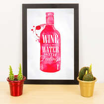 Quadro - Wine is water with feelings - 33x23 cm