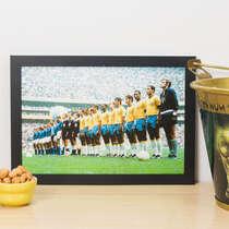 Quadro Seleção Brasileira Final 1970 - 22x33 cm